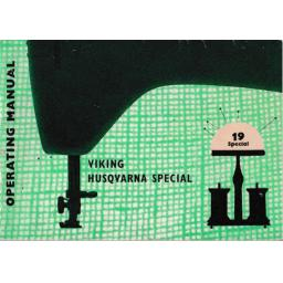 HUSQVARNA/VIKING 19 'Special' Instruction Manual (Printed)