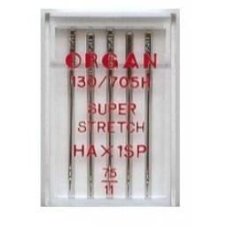 ORGAN Sewing Machine Needles Super Stretch 75(11) (Ideal for Overlockers)