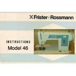 Frister + Rossmann Model 46 Instruction Manual (Download)