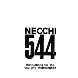NECCHI Lydia Original 544 Instruction Manual (Printed)