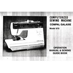 BROTHER Compal Galaxie (870) Instruction Manual (Printed)