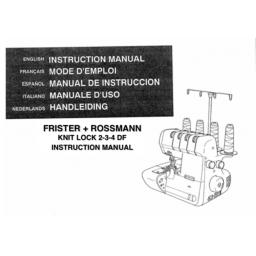 FRISTER + ROSSMANN Knit Lock 2-3-4 Instruction Manual (Printed)