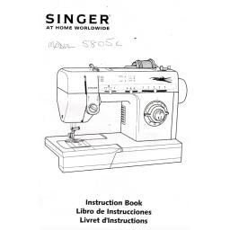 SINGER 5805C Instruction Manual (printed copy)