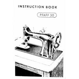 PFAFF Model 30 Insruction Book (Download)
