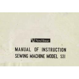 NEW HOME 531 INSTRUCTION MANUAL (Download)