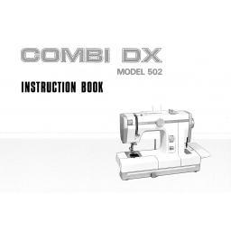 JANOME Combi DX (502) Instruction Manual (Printed)