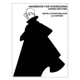 BROTHER 523, 523ND, 524N 526 & 526N Overlockers Instruction Manual (Printed)