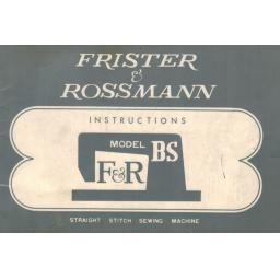 FRISTER + ROSSMANN MODEL BS INSTRUCTION MANUAL (Printed)