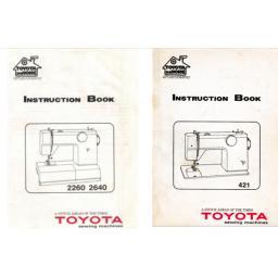 TOYOTA Model 421 + 2260 & 2640 Instruction Manual (Download)