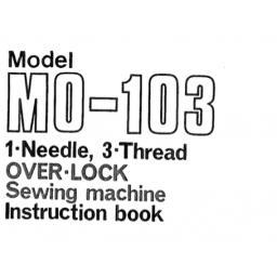 JUKI MO-103 Overlocker Instruction Manual (Printed)