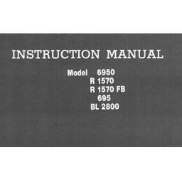 RICCAR 6950, R1570, R1570FB, 695 & BL2800 Models Instruction Manual (Printed)