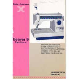 FRISTER + ROSSMANN Beaver 9 Instruction Manual (Printed)