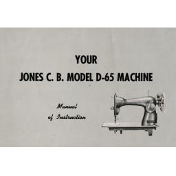 JONES  Model D-65 Sewing Machine  Instruction Manual (Download)