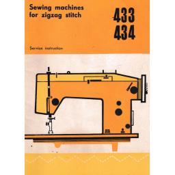 SEAMSTRESS Models 433 & 434 Sewing Machine  Instruction Manual (Printed)