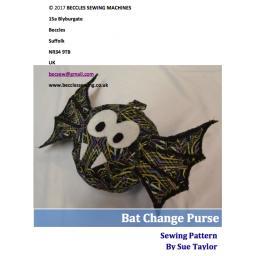 BAT CHANGE PURSE Pattern By Sue Taylor (Download)