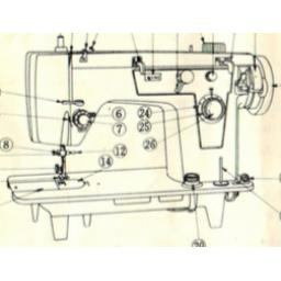 JONES BROTHER Machine (with Auto Buttonhole and Blind Hem ) Instructions (Download)