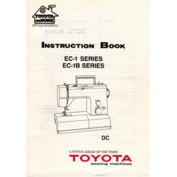 TOYOTA EC1 & EC1B Series (2202, 2701) Instruction Manual (Printed)
