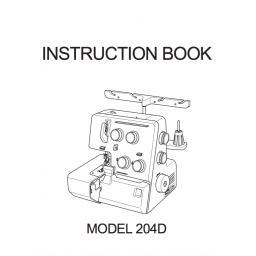 MY LOCK 204D Overlocker Instruction Manual (Printed)