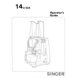 SINGER 14U32A Overlocker Instruction Manual (Download)