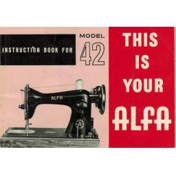 ALFA Model 42 Instruction Manual (Printed)