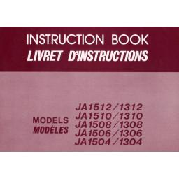 NEW HOME JA Series (1512/1312,1510/1310, 1508/1308, 1506/1306, 1504/1304) Instruction Manual (Download)