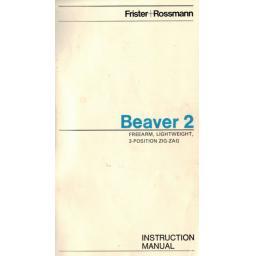 Frister + Rossmann Beaver 2 Instruction Manual (Printed)