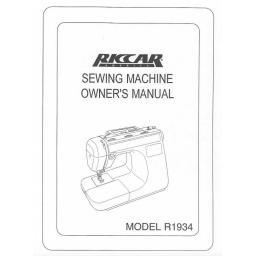 Riccar Model 1934 Instruction Manual (Download)