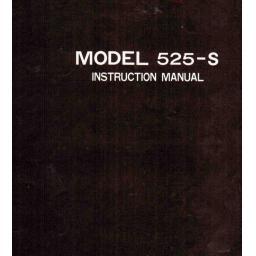 RICCAR 525 (525-S) Instruction Manual (Download)