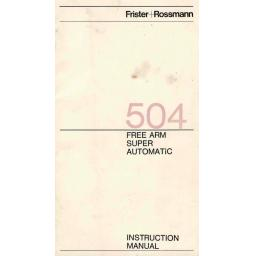 FRISTER + ROSSMANN Model 504 Instruction Manual (Printed)
