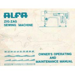 ALFA Zigzag Models 233, 233BH, 333, 333BH, 833, 236 & 236BH Instruction Manual (Download)