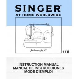 SINGER Featherweight II (118) Instruction Manual (printed copy)