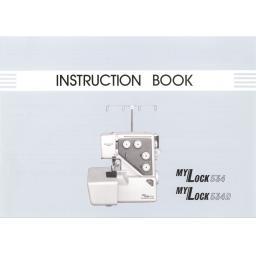 MY LOCK 534 & 534D Overlocker Instruction Manual (Printed)