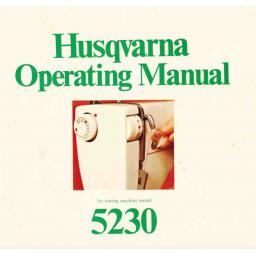 HUSQVARNA 5230 Instruction Manual (Printed)