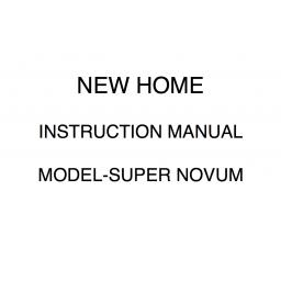 NEW HOME Super Novum Instruction Manual (Download)