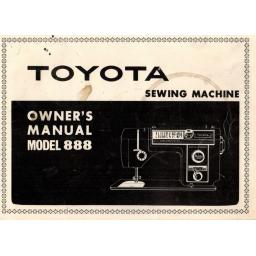 TOYOTA 888 Instruction Manual (Printed)