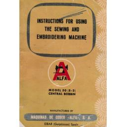 ALFA Model 50 (E-2) Instruction Manual (Printed)