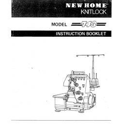 New Home Knitlock 743 Overlocker Instruction Manual (Download)