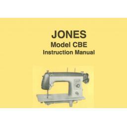 JONES  Model CBE Sewing Machine  Instruction Manual (Printed)