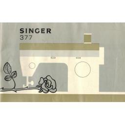 SINGER 377(M) Instruction Manual (printed copy)