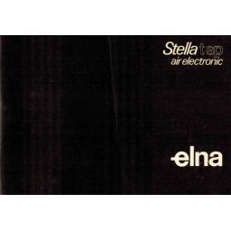 ELNA Stella TSP-Air Electronic Instruction Manual (Printed)