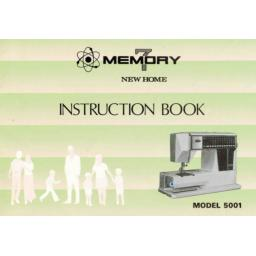 NEW HOME Memory 7 5001 Instruction Manual (Printed)