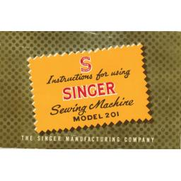SINGER 201K 'Lightweight' Instruction Manual (Printed)