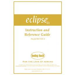 BABYLOCK Eclipse DX Instruction Manual (printed)