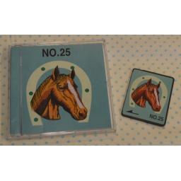 BROTHER Embroidery Design Card - No.25 Horses (pre-owned)