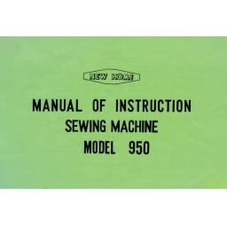 NEW HOME 950 Instruction Manual (Download)