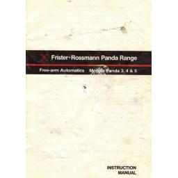 FRISTER + ROSSMANN PANDA MODELS 3, 4 & 5 INSTRUCTION MANUAL (Download)