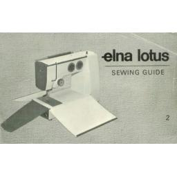 ELNA Lotus ZZ Instruction Booklet & Sewing Guide (Download)