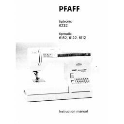 PFAFF TIPTRONIC/TIPMATIC 6232, 6152,6122, 6112 (Printed)