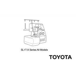 TOYOTA Model SL1T-X Overlocker Instruction Manual (Printed)