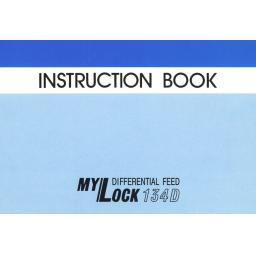 MY LOCK 134D Overlocker Instruction Manual (Printed)